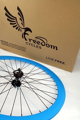 700C Front, Rear, or Wheelset 50MM Fixie - BLUE
