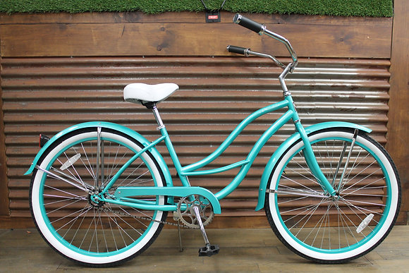 "26"" Teal Ladies Cruiser"