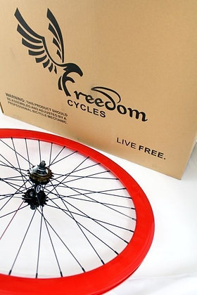 700C Front, Rear, or Wheelset 50MM Fixie - RED