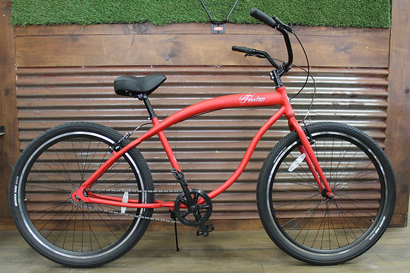 "29"" Flat Red Aluminum Mens Cruiser"