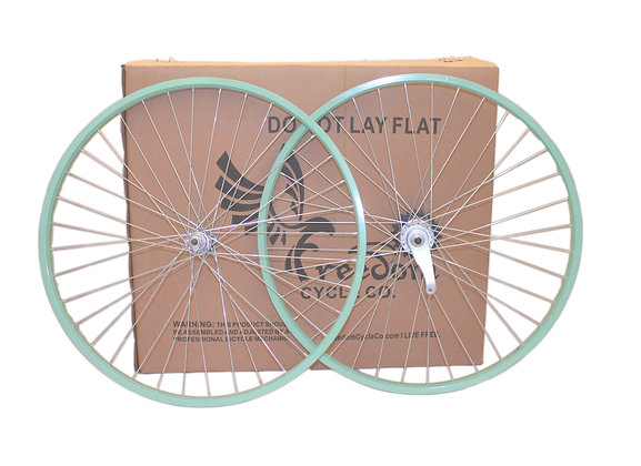 "26"" Beach Cruiser Single Speed Wheelset Mint Green"
