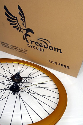 700C Front, Rear, or Wheelset 50MM Fixie - GOLD