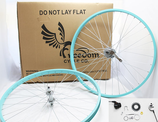 "Beach Cruiser 3 Speed 26"" Wheel Kit - SEAFOAM"