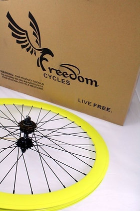 700C Front, Rear, or Wheelset 50MM Fixie - YELLOW