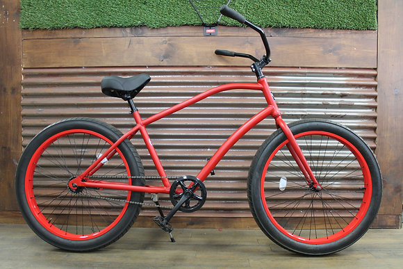 3.0 Ocean Ave Flat Red Men's Aluminum Cruiser