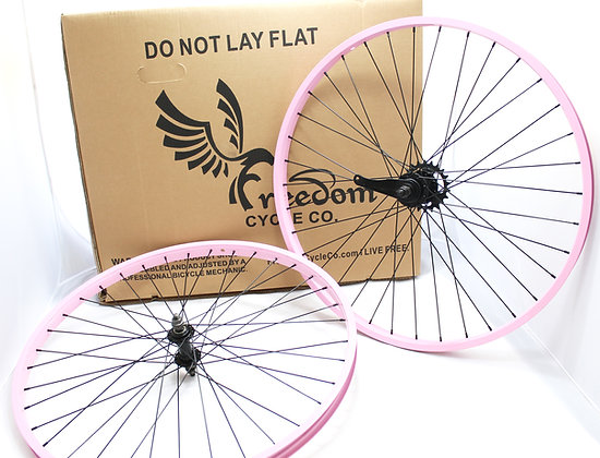 "26"" Beach Cruiser Single Speed Wheelset Light Pink"