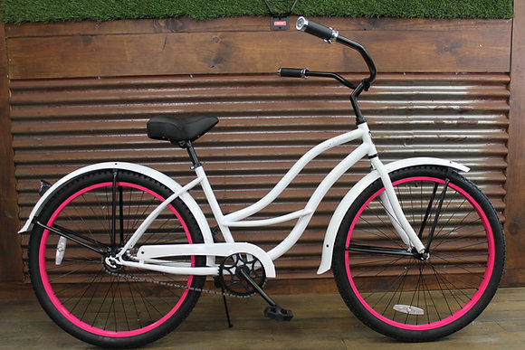 "26"" White Ladies Cruiser"