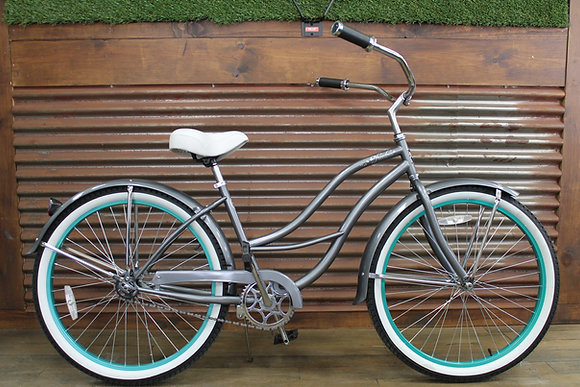 "26"" Metallic Grey Ladies Cruiser"