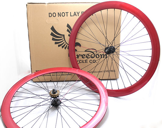700C Front, Rear, or Wheelset 50MM Fixie - MAROON