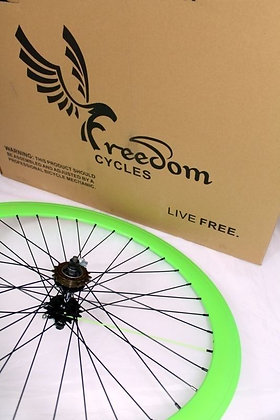 700C Front, Rear, or Wheelset 50MM Fixie - GREEN