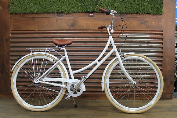 3 Speed Ladies City Bike White