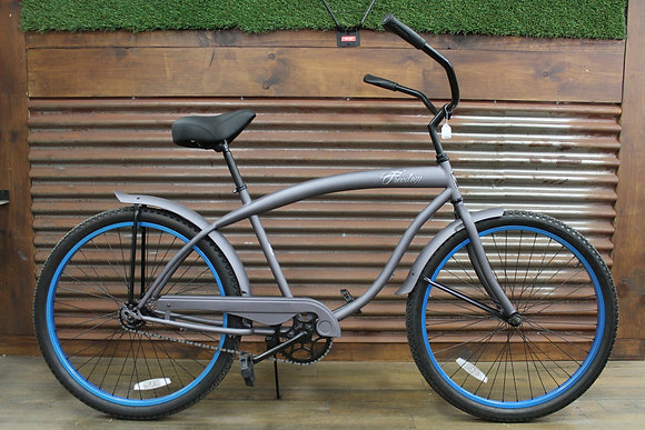 "26"" Flat Grey/Blue Men's Cruiser"