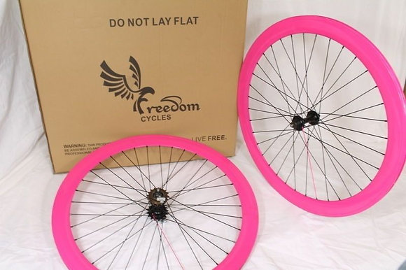 700C Front, Rear, or Wheelset 50MM Fixie - PINK