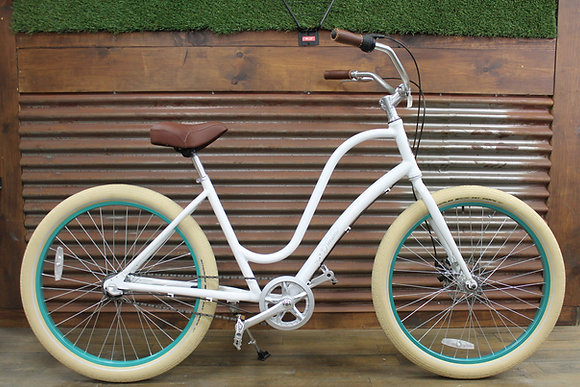 "26"" Alloy White 3.0 3 Speed Ladies Cruiser"