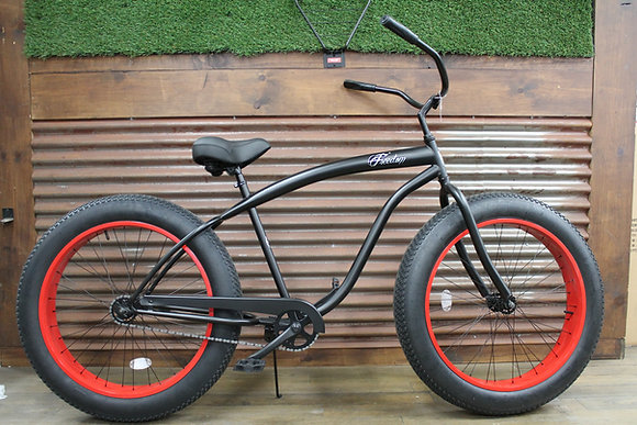 4.0 Matte Black/Red Men's Cruiser