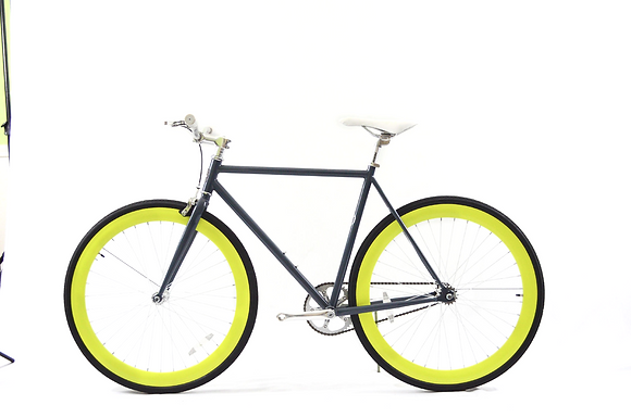 Grey/Yellow Fixie