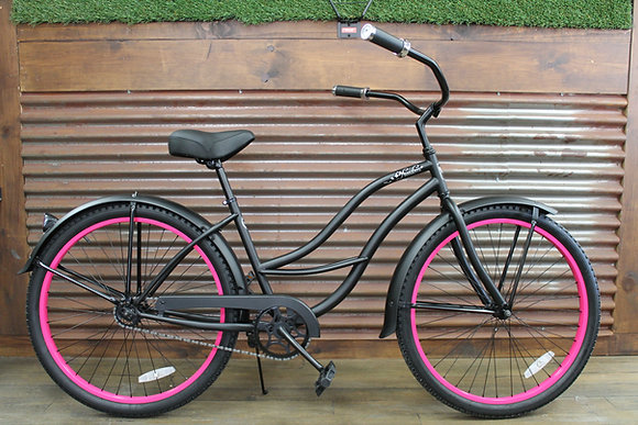 "26"" Flat Black Ladies Cruiser"