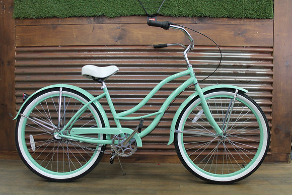 "26"" Mint Green 3 Speed Ladies Cruiser"