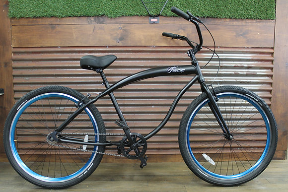 "29"" Flat Black Aluminum Mens Cruiser"