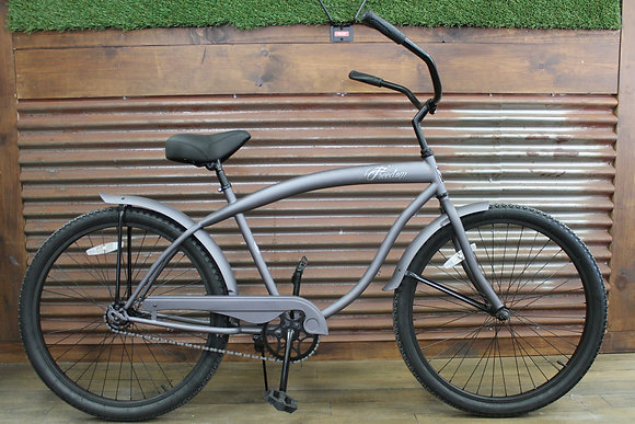 "26"" Flat Grey/Black Men's Cruiser"