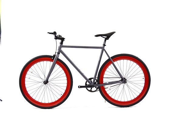 Flat Grey/Red Fixie