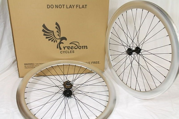 700C Front, Rear, or Wheelset 50MM Fixie - SILVER