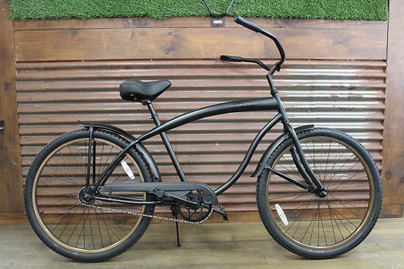 "26"" Flat Black/Copper Men's Cruiser"
