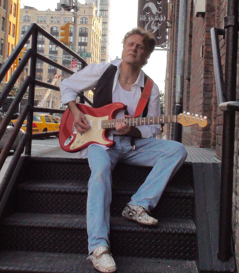 Guitarist Antonio Penn playing guitar in NYC