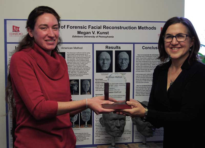 Edinboro University graduate Megan Kunst (left) was one of the first students in the school's Institute for Forensic Sciences