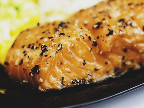 Salmon grilled with Yogo Adobo Seasoning