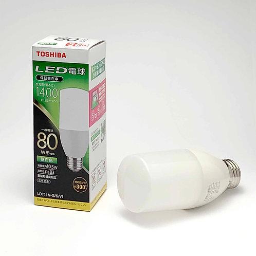 LED 東芝 電球形LEDランプ 昼白色 LDT11N-G/S(80W相当)