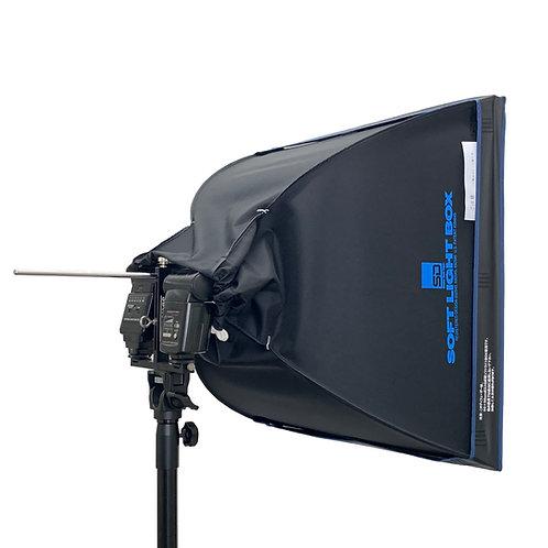 ソフトライトBOXクリップオンストロボ専用 50×50cmT型セット