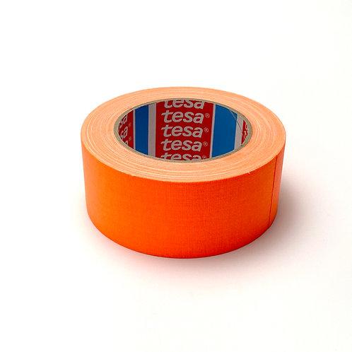 Tesa テサ 蛍光ガッファーテープ、蛍光オレンジ 50mm x 25m