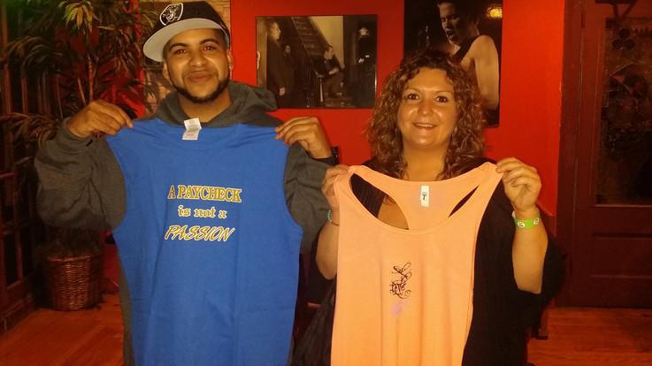 Rapper Lyric Lee & Sandy wearing what they believe in
