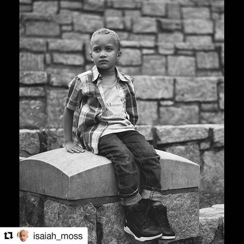 Child model & actor Isaiah Moss sporting Silent Majority. Sponsorship