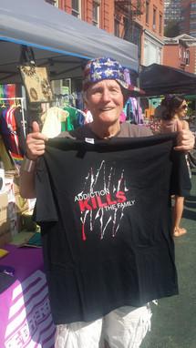 Addiction Kills the Family t-shirt