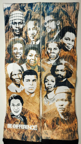 Let Freedom Rain Black History Socks