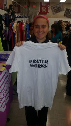Prayer works t-shirt