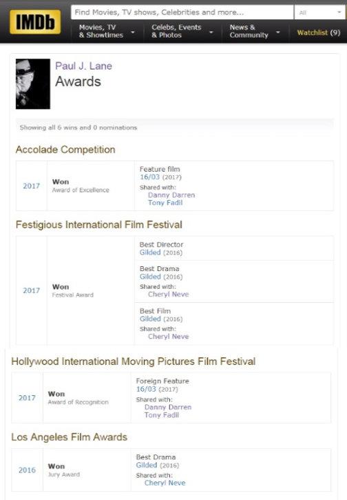 The Film Actors Club Film Coach Paul J Lane Has 7 Official