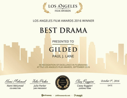 """Gilded"" Wins Best Drama Film at The Los Angeles Film Awards"