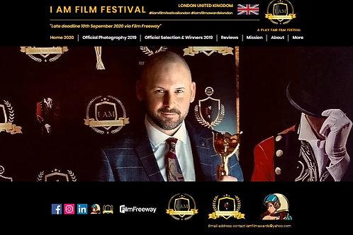 I AM Film Award Ceremony TBA 2021 - Winners announced on the Big Screen