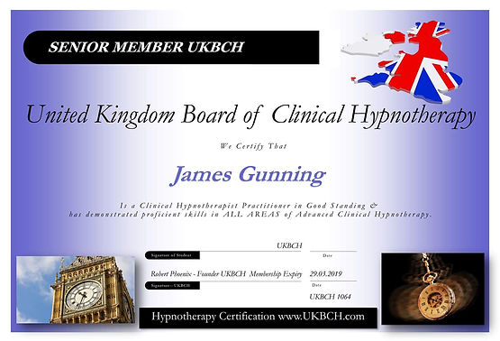 The Wellbeing Way James Gunning Certifcate
