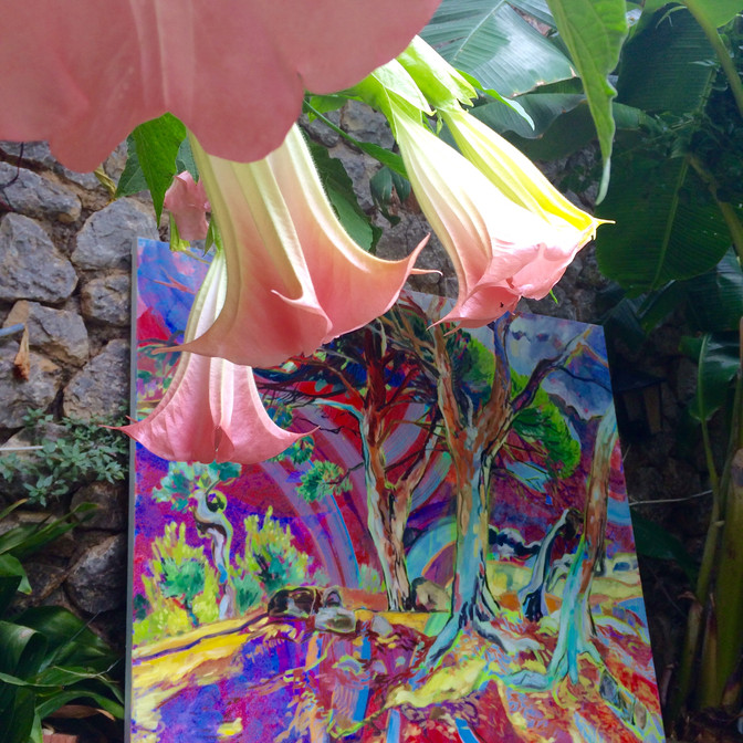ART EXHIBITION this week in Deia! I hope to see you in the Garden of Eden near the post office! :) H