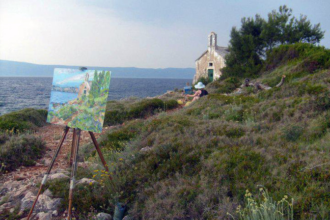 Painting Adventures on the Island of HVAR / PHOTO GALLERY