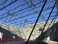 Area B, roof joist & frame installation