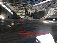 Area B, elementary gym, concrete slab