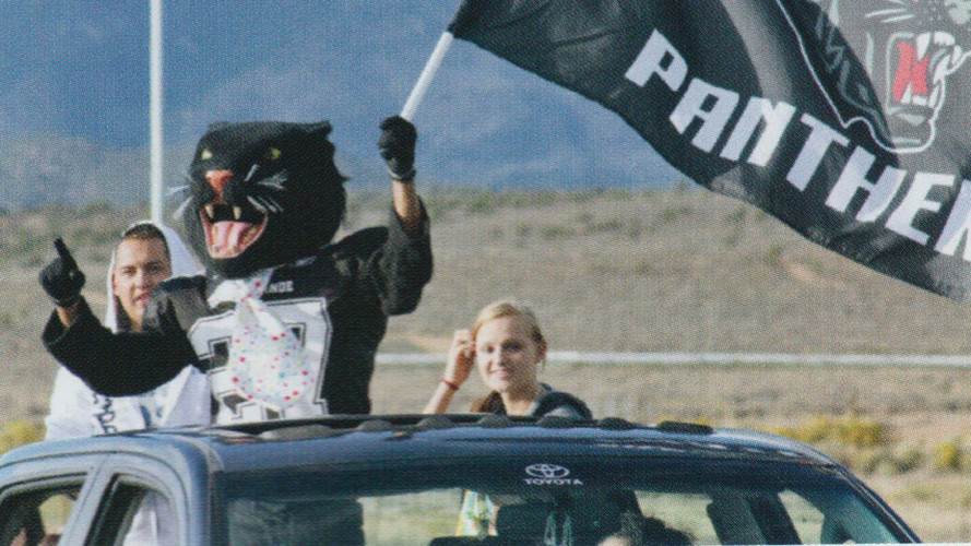 Panther at Homecoming