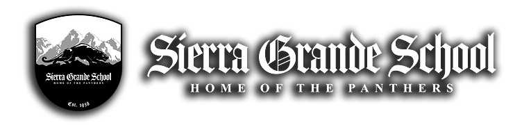Sierra Grande School Logo White Text Sha