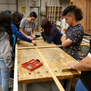 Large Panto Router Assembly in Woodshop