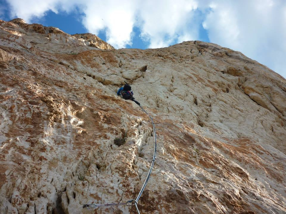 Marcus on the final pitch of Via Gomez